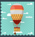 vintage aerostat in the sky vector image vector image