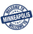welcome to minneapolis vector image vector image