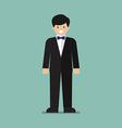 Young man in tuxedo vector image