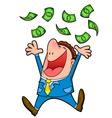 raining money vector image