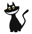 a black cat vector image vector image