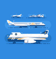 aircraft types set vector image