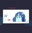 artist making ice sculpture website landing page vector image vector image