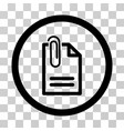 attach document icon vector image vector image