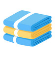 bath towels stack bathroom textile objects pile
