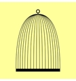 Bird cage sign vector image vector image