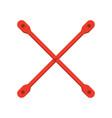 bracing scaffolding icon vector image vector image