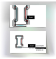 Business card design with letter I vector image vector image