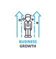 business growth concept outline icon linear vector image
