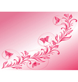 Butterflies flying over a beautiful twig vector image vector image