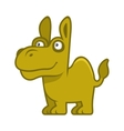 Camel Cartoon Style Funny Animal on White vector image vector image
