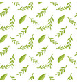 cartoon seamless stylized decorative leaf pattern vector image vector image