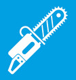 chainsaw icon white vector image vector image