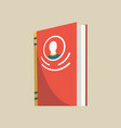 closed book with avatar colorful book icon vector image vector image