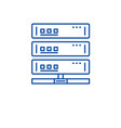 cloud server line icon concept cloud server flat vector image