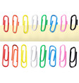 colorful paperclips isolated vector image vector image