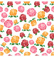 colorful roses seamless pattern vector image vector image