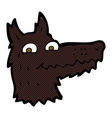 comic cartoon wolf head vector image vector image