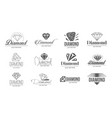 concept of diamond logo icon vector image