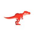 Cute cartoon tyrannosaurus rex dinosaur