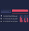 design graphic and data business infographic vector image vector image