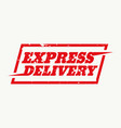 express delivery sign design vector image vector image