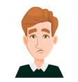 face expression of a man with blond hair - tired vector image vector image