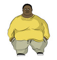 fat man in wide clothing vector image vector image