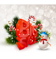 Festive Winter Big Sale Poster vector image