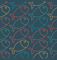 fish pattern marine animal texture ornament for vector image vector image