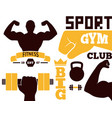 Fitness emblem design element gym sport club