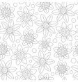 Floral seamless cute pattern simple design vector image vector image