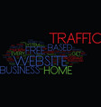 free home based business website traffic text vector image vector image