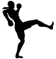 front kick female vector image