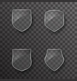 glass shield protection icons template design vector image vector image