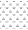 gold crown pattern seamless vector image vector image