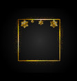 golden rectangular frame with falling shiny vector image vector image