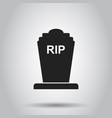 halloween grave icon on isolated background vector image vector image