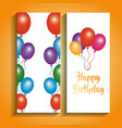 happy birthday banners greeting celebration vector image