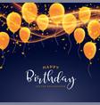 happy birthday celebration card design vector image