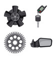 isolated object of auto and part icon set of auto