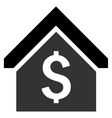 Loan Mortgage Flat Icon vector image vector image