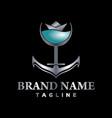 marine bar logo creative concept vector image vector image