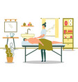 medical massage osteopaths doing treatment flat vector image vector image