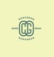 monogram cg vector image vector image