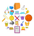 new knowledge icons set cartoon style vector image vector image