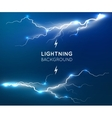 New lightning flash strike background vector image vector image