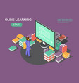 online learning concept e-learning school vector image