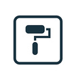 paint roller icon Rounded squares button vector image