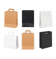 paper bags empty identity packages from white and vector image vector image